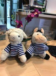 Mascottes Léhon le mouton et Fleur la Vache