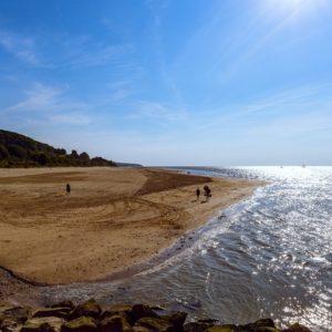 Accéder à la plage de Honfleur en groupe